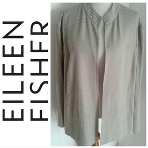 Eileen Fisher Woman 100% Silk Open Jacket Size 3X